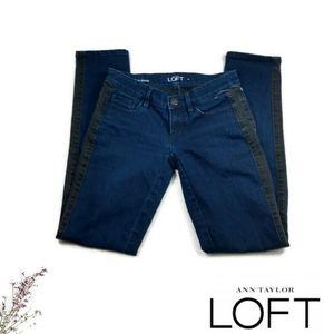 Loft Modern Skinny Tuxedo Stripe Jeans